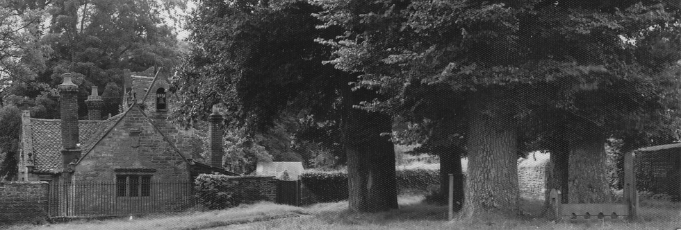 A postcard of Eydon Hall Lodge and village green at Eydon.