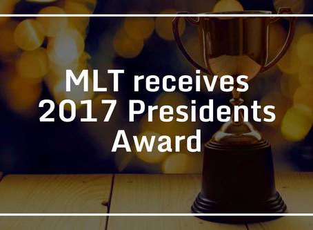 MLT receives 2017 Presidents Award