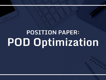 POSITION PAPER: POD Optimization