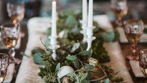 Our classic Christmas table scape with a modern twist