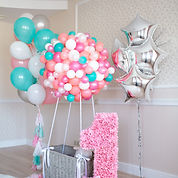 First Birthday Balloon Installation