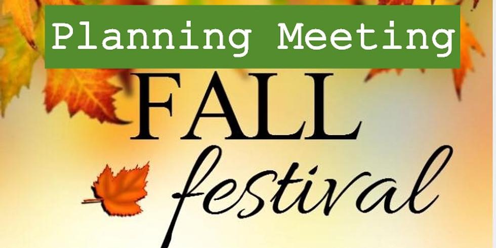 Meeting- Fall Festival planning