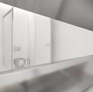 dettaglio del lavabo dei servizi igienici
