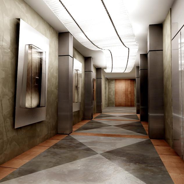 lo sbarco degli ascensori sui piani
