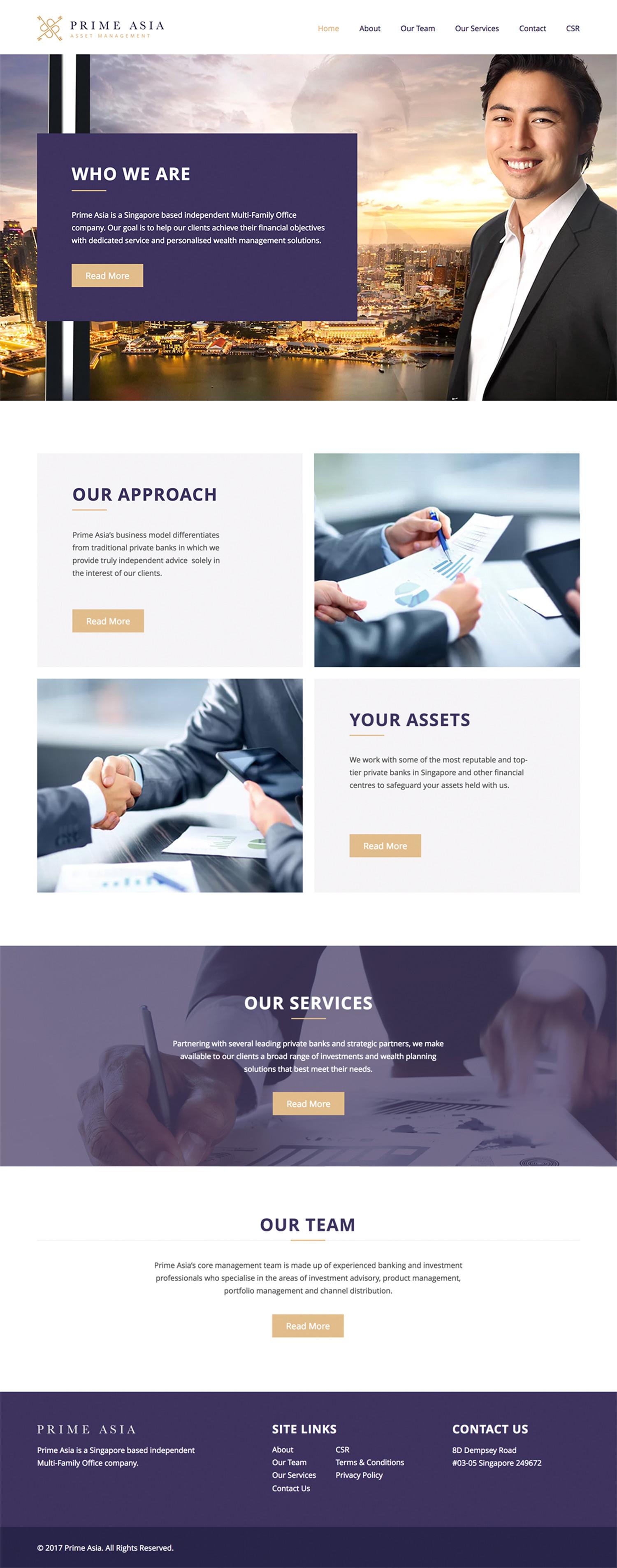 Prime Asia Website