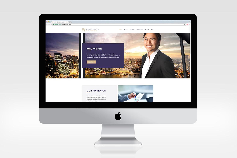 Prime Asia Website Mockup