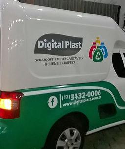 Lona com impressão digital