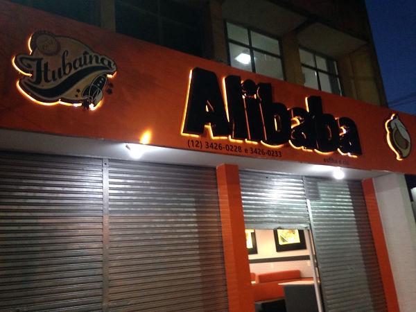 Fachada da loja Alibaba em Taubaté