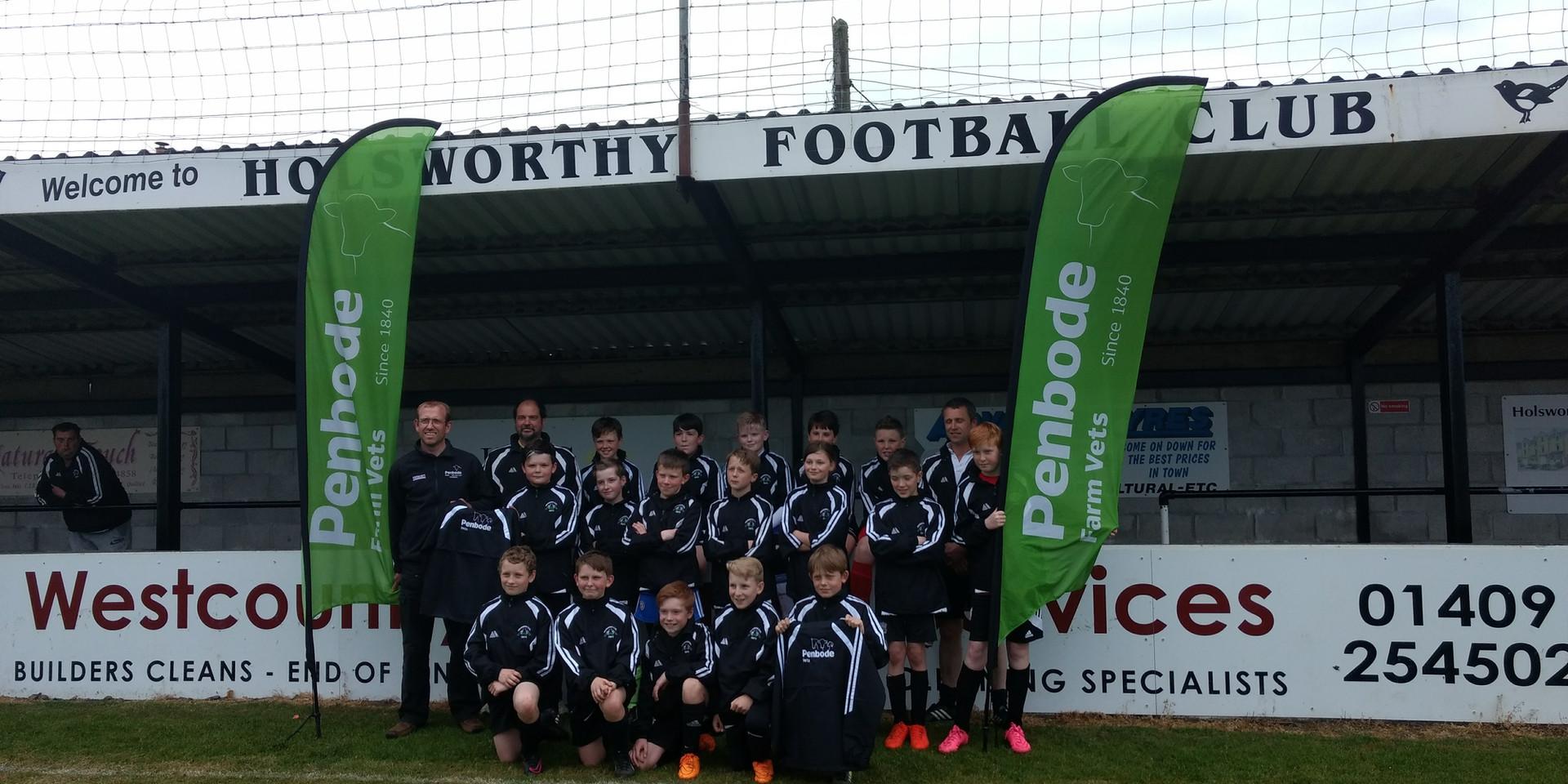Penbode Vets sponsor the Holsworthy FC colts strip