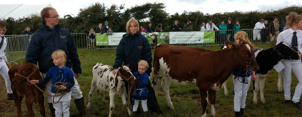 The Walters of Glubhole Farm family at Camelford Show