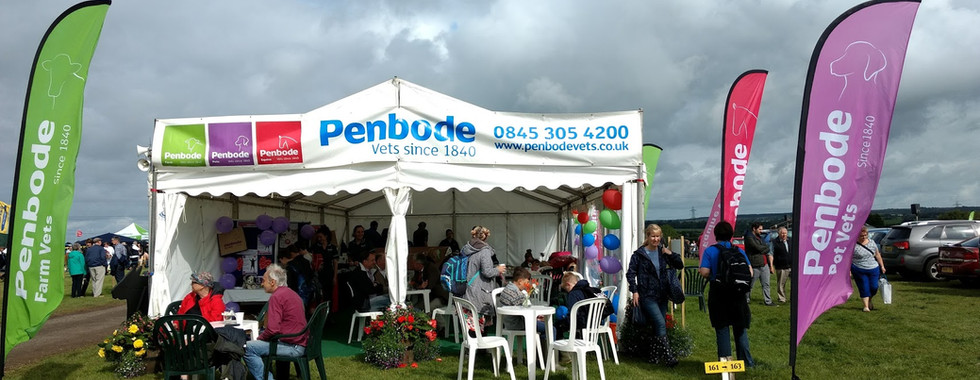 The Penbode marquee at Holsworthy & Stratton Show