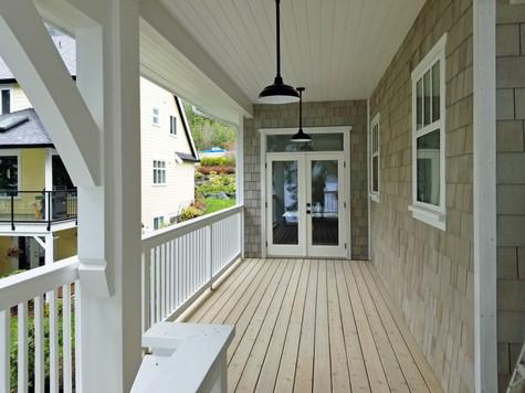 Lake house upstairs veranda