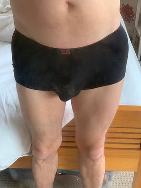 Snug black trunks