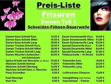 Preisliste1 - ab 10.01.2021 Friseur Dame