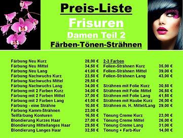 Preisliste - ab10.01.2021 Friseur Damen