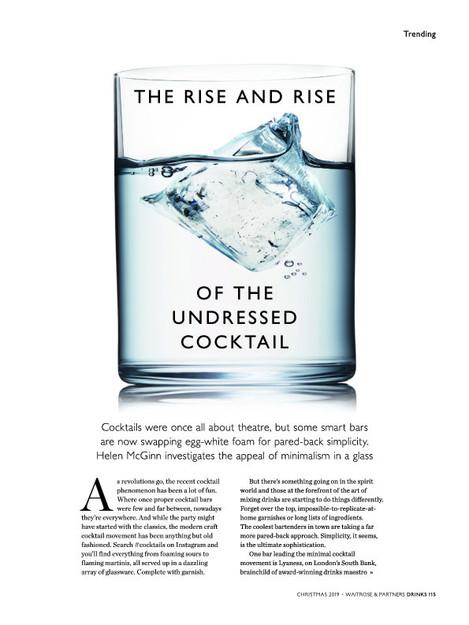 Waitrose & Partners Drinks Magazine Art Directed by Naomi Lowe
