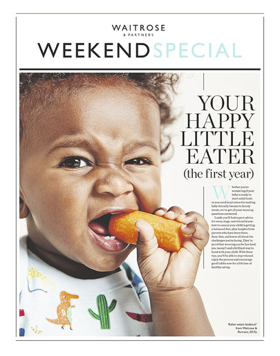Waitrose & Partners Weekend Baby Specials Art Directed by Naomi Lowe