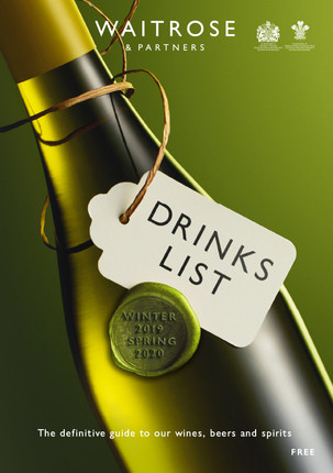 Waitrose & Partners Drinks List Art Directed by Naomi Lowe