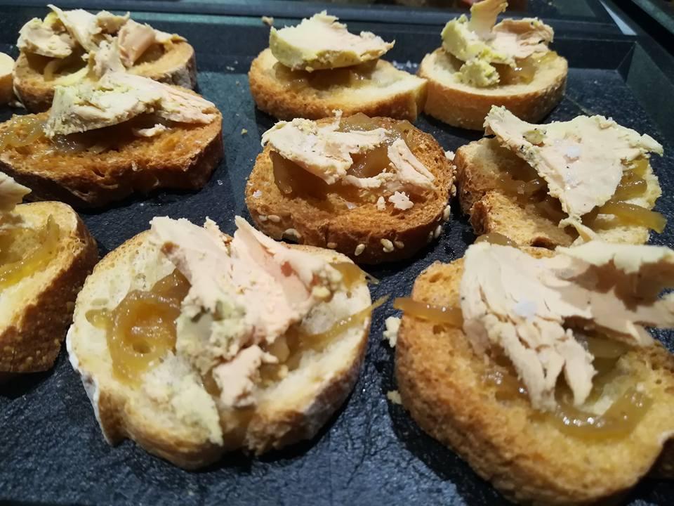 Toast foie gras maison