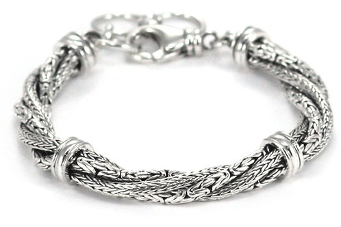 Indiri B522 DEWI Sterling Silver Twisted Mix Bracelet