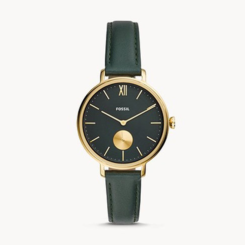 Fossil ES4662 Kayla Three-Hand Dark Green Leather Watch