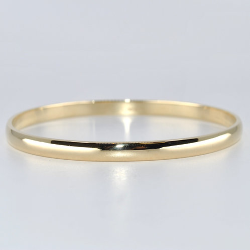 J018Y 9ct Yellow Gold Solid Bangle