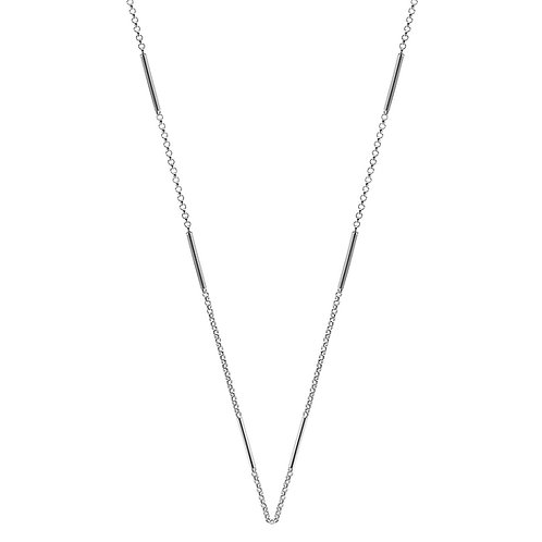 Najo N5205 La Luna Dot and Dash Necklace 90cm Silver