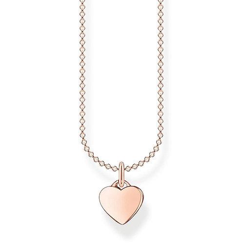 Thomas Sabo KE2049-415-40-L45v RoseTone Heart Necklace
