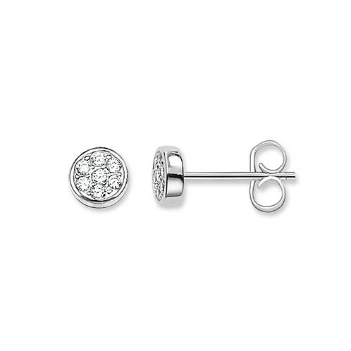 "Thomas Sabo H1848-051-14 Sterling Silver Ear Studs ""Sparkling Circles"""