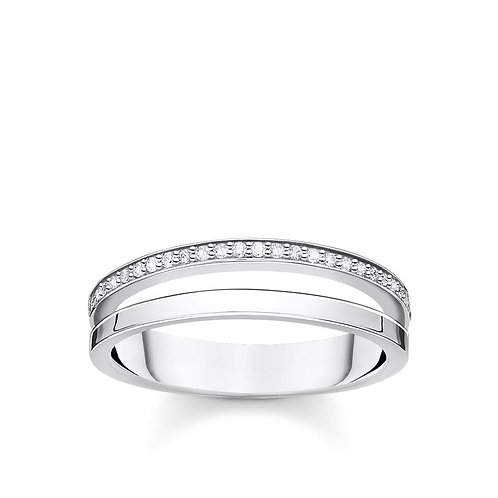 Thomas Sabo TR2316-54 Sterling Silver Double Band Ring