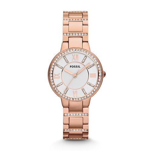 Fossil ES3284 Virginia Rose-Tone Stainless Steel Watch