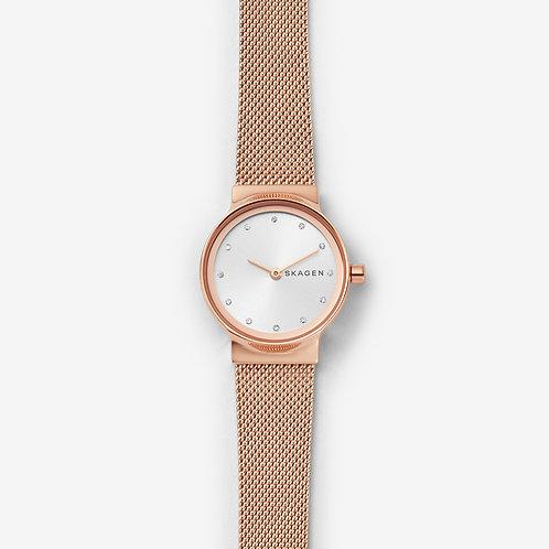 Skagen SKW2665 Freja Rose Gold-Tone Steel-Mesh Watch