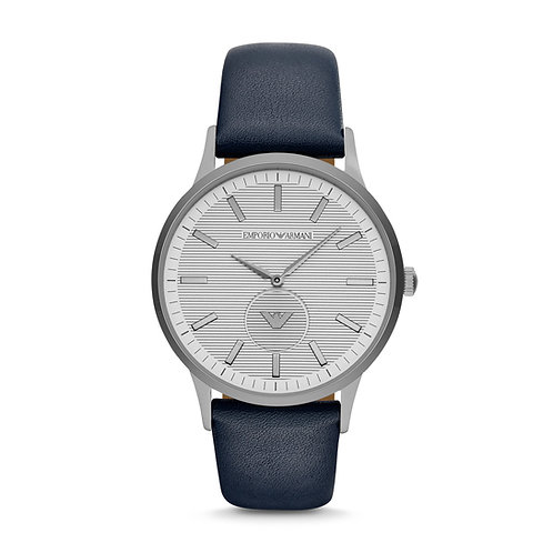 Emporio Armani AR11119 Men's Dress Blue Leather Watch