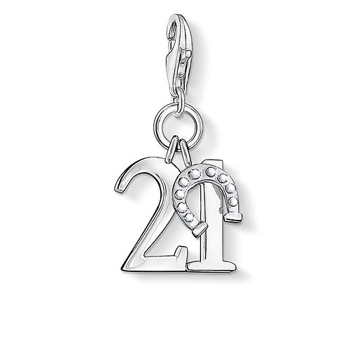 Thomas Sabo Charm CC460- Sterling Silver 'Lucky Number 21'