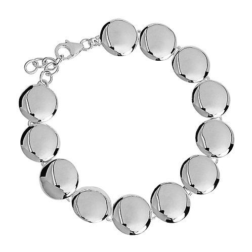 Najo B5728 Disc Link Bracelet Silver