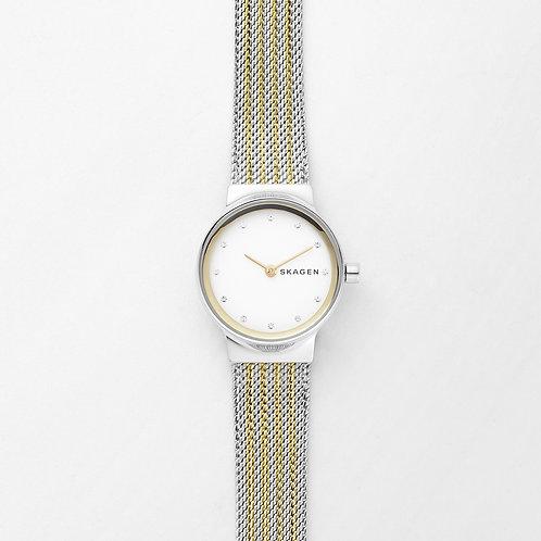 Skagen SKW2698 Freja Two-Tone Steel-Mesh Watch