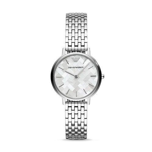 Emporio Armani AR11112 Ladies Mosaic Pattern Stainless Steel Watch