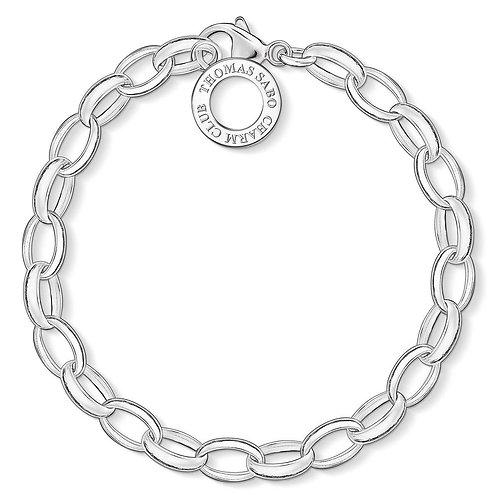 Thomas Sabo X0032-001-12-M Sterling Silver 'Classic Charm'Bracelet -Larg