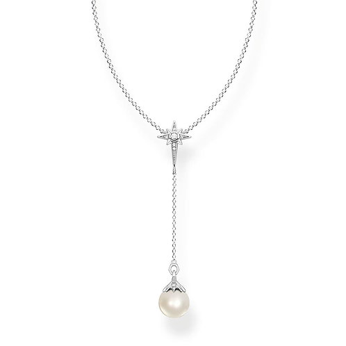 Thomas Sabo KE1986-167-14-L45v Sterling Silver 'Pearl Star' Necklace