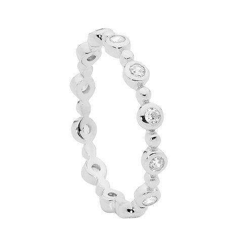 Ellani R491S Fine CZ set Ring Silver