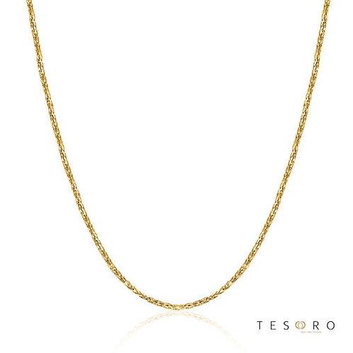 9ct Yellow Gold Diamond Cut Wheat Link 0.8mm Chain 50cm