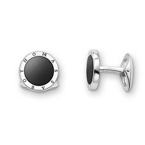 Thomas Sabo MK47-168-11 Sterling Silver Onyx Cufflinks
