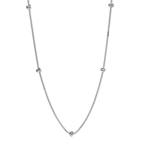 Najo N6224 Oceans Necklace Long Silver
