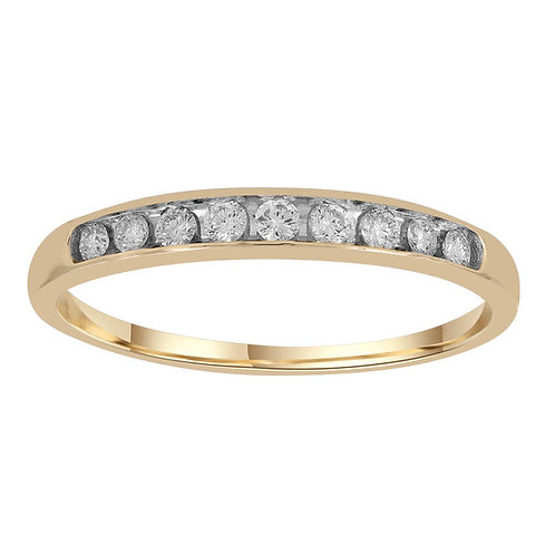 IGR-35682 - 9ct Yellow Gold Channel Set Diamond Ring