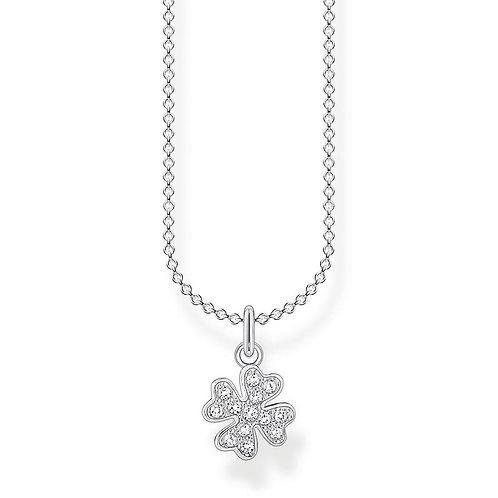 Thomas Sabo KE2036-051-14-L45V Sterling Silver Necklace Cloverleaf with CZ's