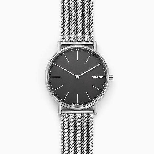 Skagen SKW6483 Signatur Slim Titanium and Steel-Mesh Watch