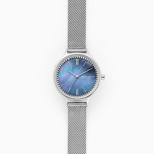 Skagen SKW2862 Anita Three-Hand Silver-Tone Steel-Mesh Watch
