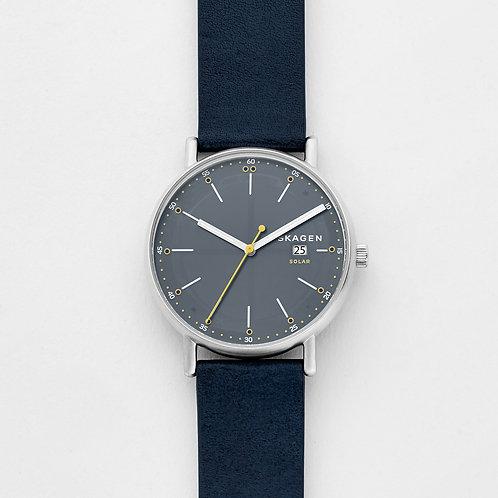 Skagen SKW6451 Signatur Solar Blue Leather Watch