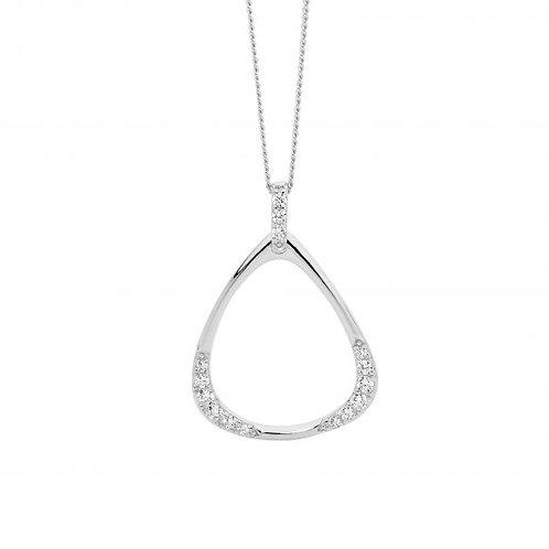Ellani P847S Open Triangle Drop Pendant Silver