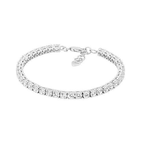 Ellani B201S Round Brilliant Tennis Bracelet Silver